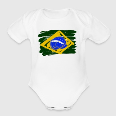 Brazilian Flag - Short Sleeve Baby Bodysuit