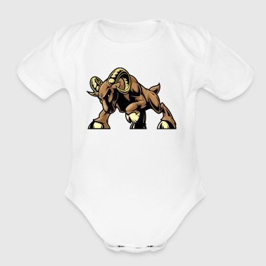 angry_attacking_coat - Short Sleeve Baby Bodysuit