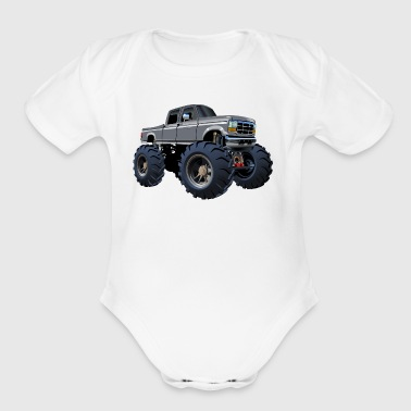 Drawing Jeep SUV Monster Truck car vector cartoon - Short Sleeve Baby Bodysuit