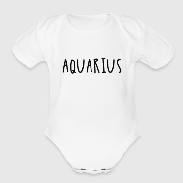 Aquarius - Organic Short Sleeve Baby Bodysuit