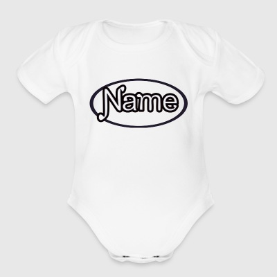NAME - Short Sleeve Baby Bodysuit