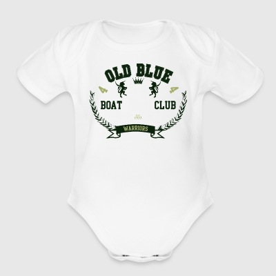 old_blue - Short Sleeve Baby Bodysuit