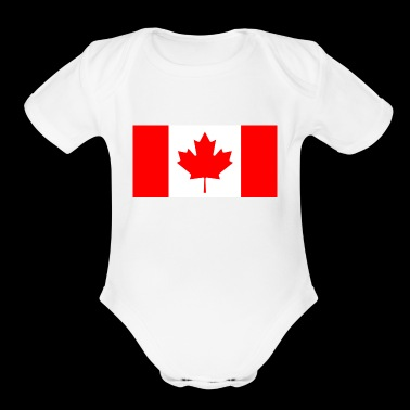 Canada`s Flag - Short Sleeve Baby Bodysuit