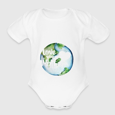 Love your mother earth day - Short Sleeve Baby Bodysuit