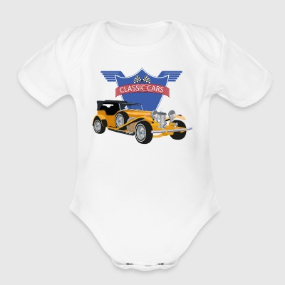 classic car 1 - Short Sleeve Baby Bodysuit