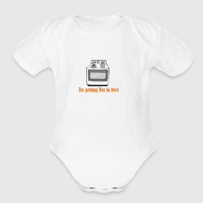 itsgettinghot - Short Sleeve Baby Bodysuit