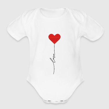 Love balloon - Short Sleeve Baby Bodysuit