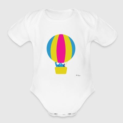 Hot Air Balloon - Short Sleeve Baby Bodysuit