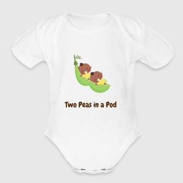 Two Peas in a Pod Cute - Organic Short Sleeve Baby Bodysuit