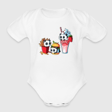 COMBO MEAL - Short Sleeve Baby Bodysuit