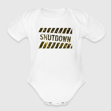 shut down - Short Sleeve Baby Bodysuit