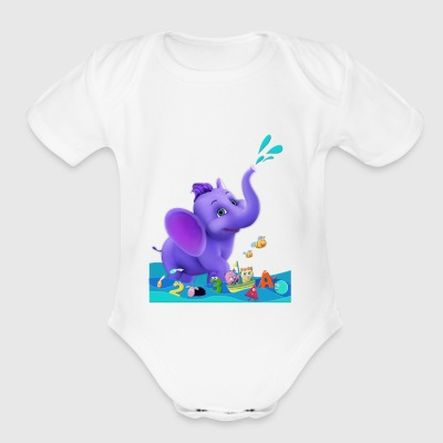 Appu in water - Short Sleeve Baby Bodysuit