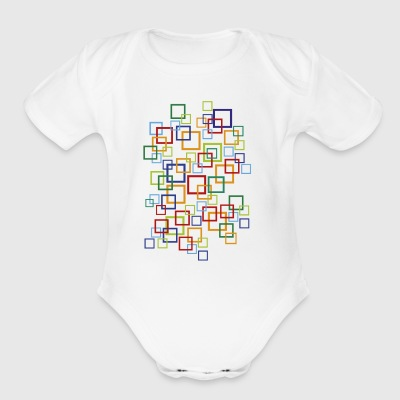 abstract - Short Sleeve Baby Bodysuit
