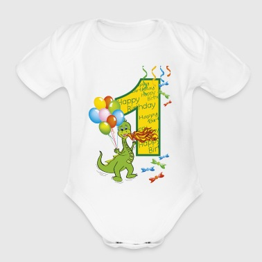 1st birthday first birthday one year 1 - Short Sleeve Baby Bodysuit