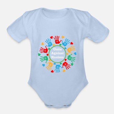 Anti Racism Unite Against Racism - Organic Short-Sleeved Baby Bodysuit