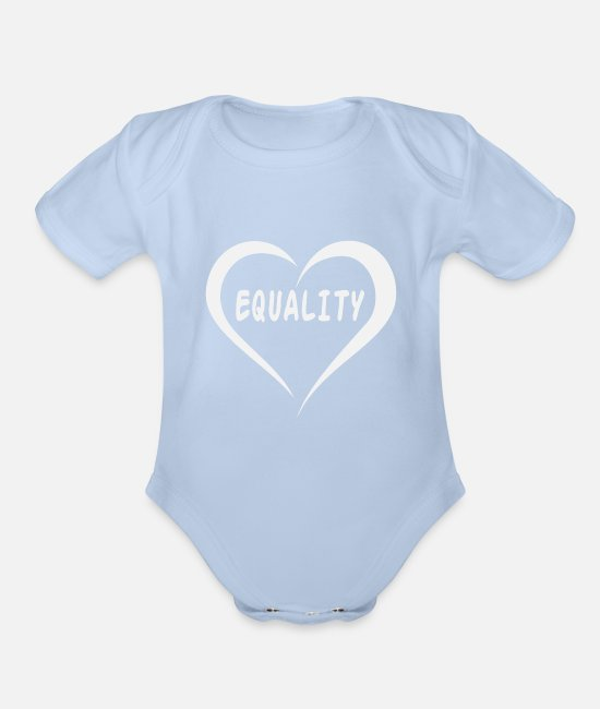 Patriot Baby Clothing - Equality - Organic Short-Sleeved Baby Bodysuit sky