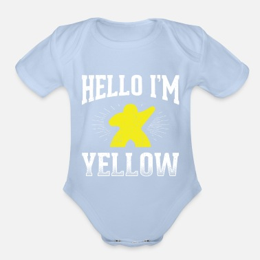 Group Funny Board Games Design Quote I'm Yellow - Organic Short-Sleeved Baby Bodysuit