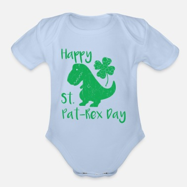 Leprechaun Cute St. Patrick's Pun Gift Shirt - Happy St. Pat - Organic Short-Sleeved Baby Bodysuit