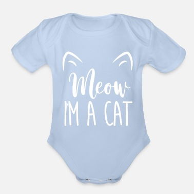 Halloween Meow I m A Cat Funny t shirt for Cat lovers - Organic Short-Sleeved Baby Bodysuit