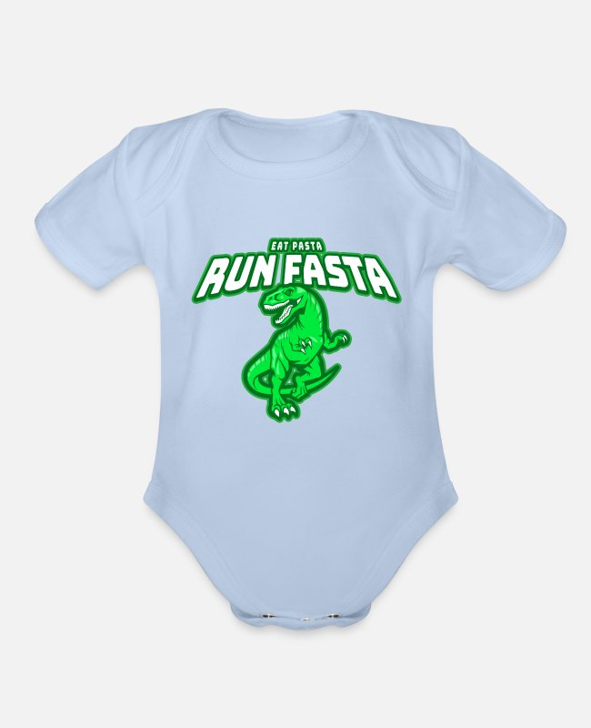 Apparel Baby One Pieces - Runner Run Marathon Funny Jogger Sport Gift Idea - Organic Short-Sleeved Baby Bodysuit sky