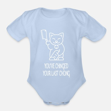 Funny Halloween Cat Gift Murderous Cat With Knife - Organic Short-Sleeved Baby Bodysuit