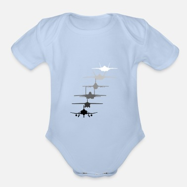 F35 Air Force Fighter Jets F4 F111 F15 F16 F22 F35 Gif - Organic Short-Sleeved Baby Bodysuit