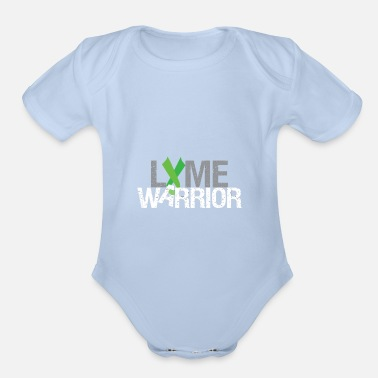 Lyme Lyme Disease Warrior Green Lyme Awareness Ribbon G - Organic Short-Sleeved Baby Bodysuit