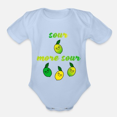 Sour sour more sour - Organic Short-Sleeved Baby Bodysuit