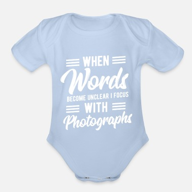 Photoshop Words Unclear Focus With Photography Birthday Gift - Organic Short-Sleeved Baby Bodysuit