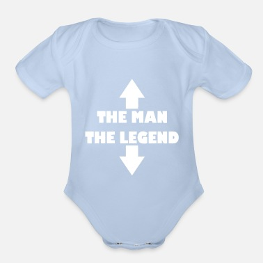 THE MAN THE LEGEND - Organic Short-Sleeved Baby Bodysuit