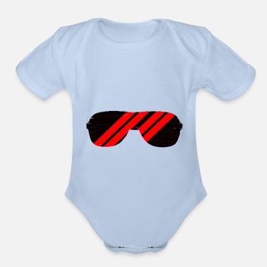 Lens red - Organic Short-Sleeved Baby Bodysuit
