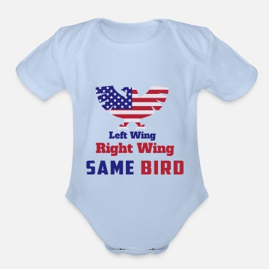 Right Wing Left wing or right wing part of same bird - Organic Short-Sleeved Baby Bodysuit