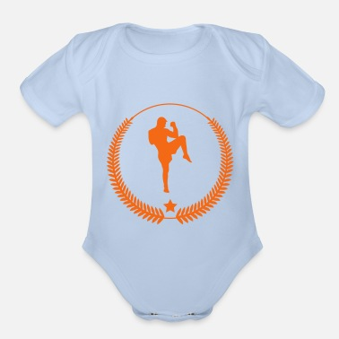 Shopping Kickboxing - Kickboxer - Fight - Organic Short-Sleeved Baby Bodysuit