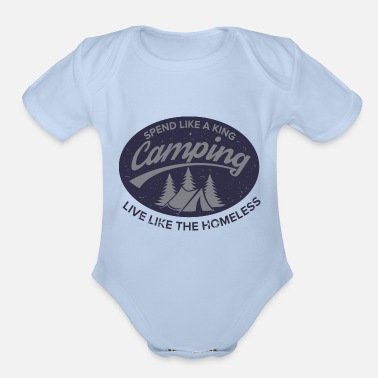 Irony Irony of Camping - Organic Short-Sleeved Baby Bodysuit
