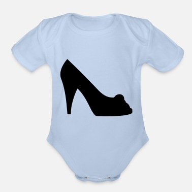 Highheeled Shoes Vector high heels shoes Silhouette - Organic Short-Sleeved Baby Bodysuit