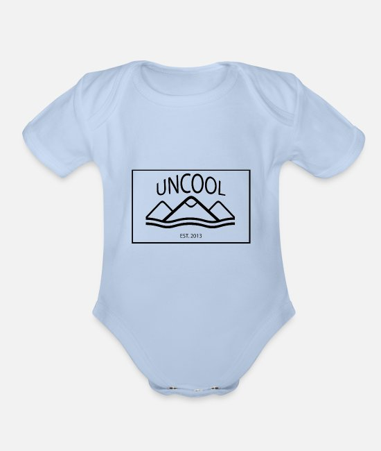 Canada Baby One Pieces - uncool_bw - Organic Short-Sleeved Baby Bodysuit sky