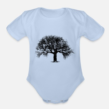 Deforestration Tree - Organic Short-Sleeved Baby Bodysuit