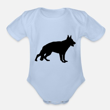 German Shepherd - Organic Short-Sleeved Baby Bodysuit