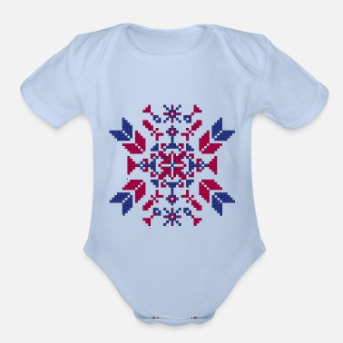 Tradition Traditional embroidery - Organic Short-Sleeved Baby Bodysuit