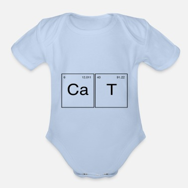 Cat A Table Cat - Motif Periodic Table - Organic Short-Sleeved Baby Bodysuit
