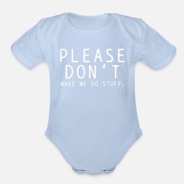 Lazy Lazy - Organic Short-Sleeved Baby Bodysuit
