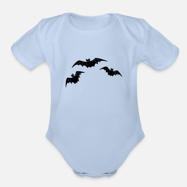 Bats Bat Bat Bat - Organic Short-Sleeved Baby Bodysuit