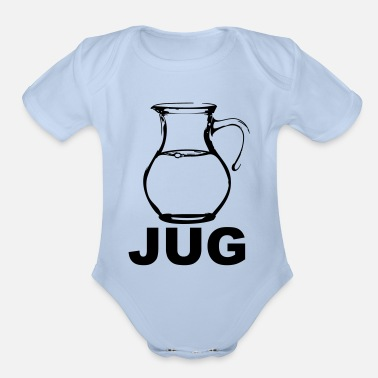 Crook jug - Organic Short-Sleeved Baby Bodysuit