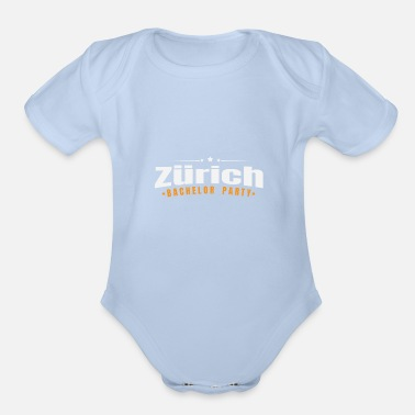 Bachelorette Bachelor Party Shirt Zürich Pre Wedding - Organic Short-Sleeved Baby Bodysuit