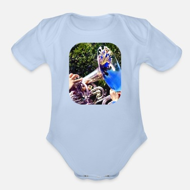 Reflections on a Baritone - Organic Short-Sleeved Baby Bodysuit