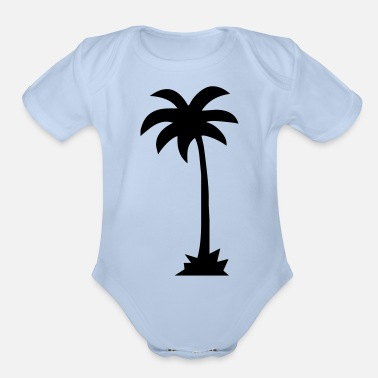 Palm Trees palm - palm tree - Organic Short-Sleeved Baby Bodysuit