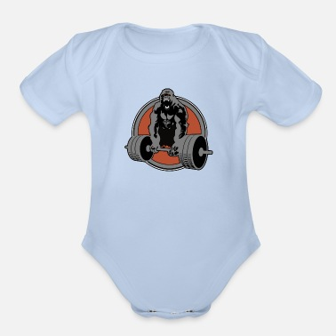 Macho Heavy Weight Wild Gorilla - New Limited Edition!! - Organic Short Sleeve Baby Bodysuit