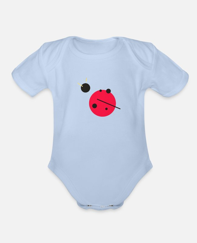 Experience Baby One Pieces - Golden Experience Ladybug - Organic Short-Sleeved Baby Bodysuit sky