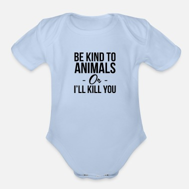 Be kind to animals - Organic Short-Sleeved Baby Bodysuit