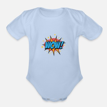 5 Seconds Of Summer WOW - Organic Short-Sleeved Baby Bodysuit